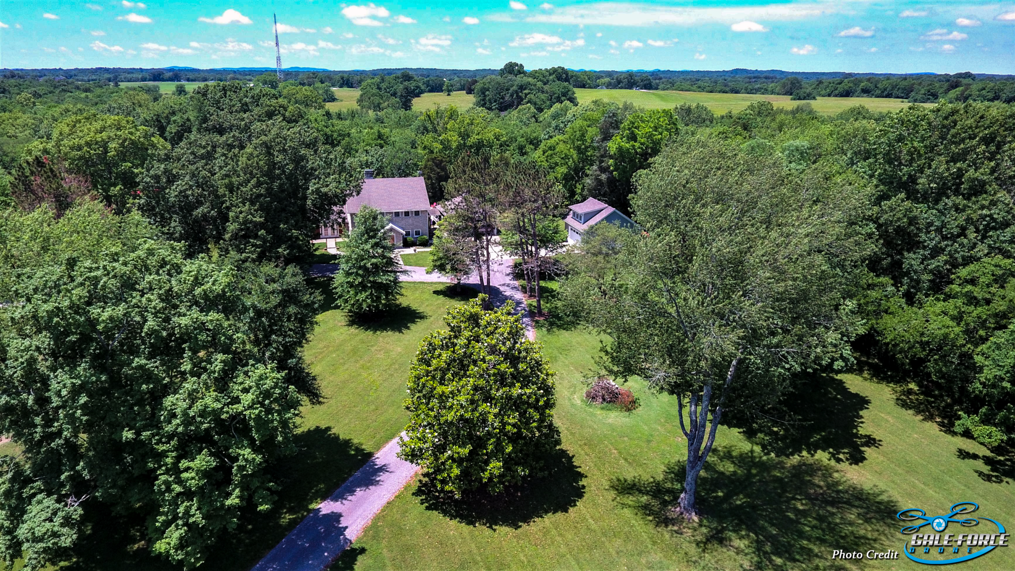 Gale-Force Drone Aerial Photo Wooded Acreage