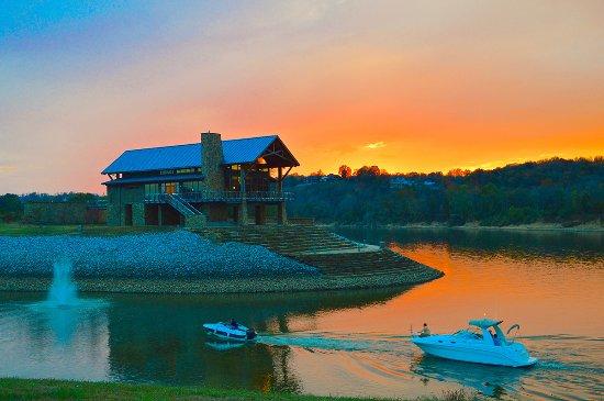 liberty park clarksville at sunset
